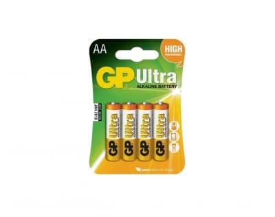 GP Ultra Alkaline AA LR06 1,5V Batteri | Arctic-Fritid.no