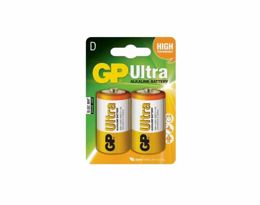 GP Ultra Alkaline D LR20 1,5V Batteri | Arctic-Fritid.no