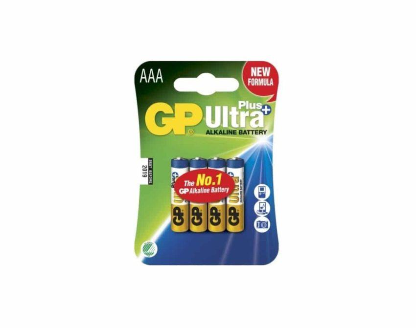 GP Ultra Plus AAA LR03 1,5V Batteri | Arctic-Fritid.no
