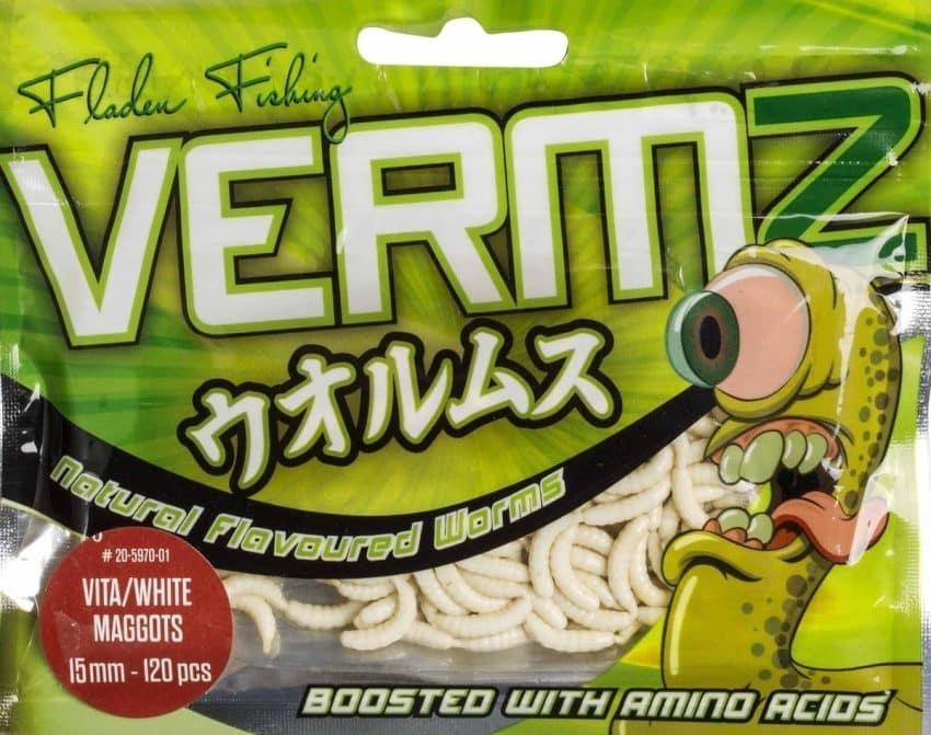 Fladen kunstig maggot - Hvit | Arctic-Fritid.no