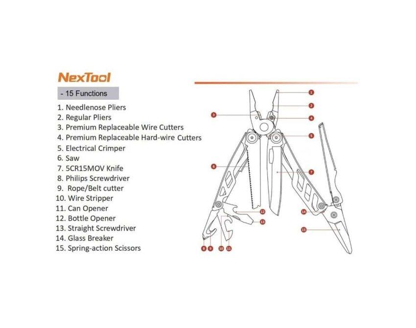NexTool Flagship Pro Multiverktøy | Arctic-Fritid.no