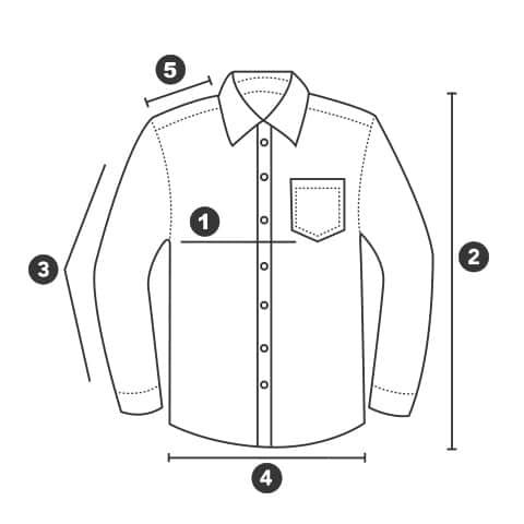 Størrelsesguide skjorter | Arctic-Fritid.no
