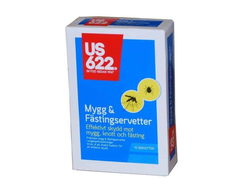 US622 Mygg- og flåttservietter 10pk   Arctic-Fritid.no